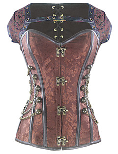 Shaperdiva Women's Plus Size Gothic Steel Boned Steampunk Overbust Corset Tops