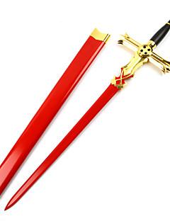 Zbraň / Meč Inspirovaný Seraph z konce Mikaela Hyakuya Anime Cosplay Doplňky Zbraň Czerwony / Stříbro Drewniany Pánský