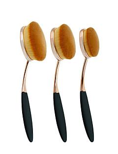 3 Set di pennelli / Pennello per cipria / Pennello per correttore / Pennello per polveri / Pennello da fondotinta / Contour BrushPennello