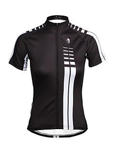 ILPALADINO חולצת ג'רסי לרכיבה בגדי ריקוד נשים שרוול קצר אופניים ג'רזי צמרותייבוש מהיר עמיד אולטרה סגול נושם רך דחיסה חומרים קלים רצועות
