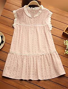 Maternity Round Neck Lace / Ruffle Shirt,Cotton Sleeveless