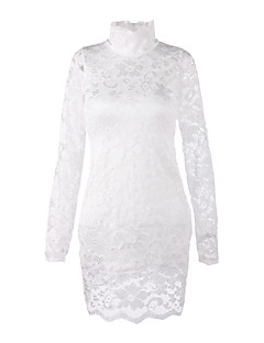 Women's High Neck Lace Bodycon Dress