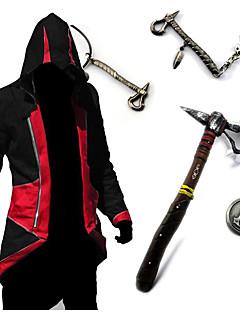 Inspirovaný Assassin's Creed Conner Anime Cosplay kostýmy Cosplay Topy / Bottoms / Zbraň Retro Czerwony / Niebieski Dlouhé rukávyVrchní