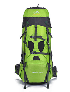 75 L Hiking & Backpacking Pack Camping & Hiking Outdoor Waterproof / Wearable / Breathable / MultifunctionalGreen /