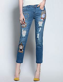 Mary Yan & Yu  Women's Embroidered Blue Jeans Pants,Sophisticated