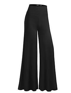 Street chic-Polyester-Micro-elastisch-Breed Been-Broek-Vrouwen