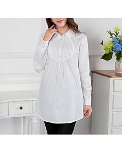 シャツカラー プリーツ 産科 シャツ,コットン 長袖