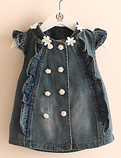 Girl's Casual/Daily Solid Vest,Cotton Summer / Spring / Fall Blue