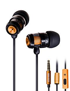 bass slitina sluchátka ušní sluchátka drát s pšenice DT-202