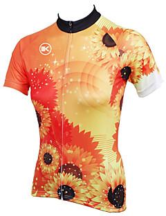 KEIYUEM® חולצת ג'רסי לרכיבה לנשים / יוניסקס שרוול קצר אופנייםעמיד למים / נושם / ייבוש מהיר / עיצוב אנטומי / מוגן מגשם / רוכסן עמיד למים /