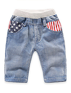 Boy's Casual/Daily Striped Shorts,Cotton Summer Blue