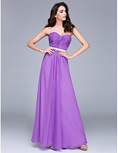 TS Couture® Formal Evening Dress Sheath / Column Sweetheart Floor-length Chiffon with Sash / Ribbon / Side Draping