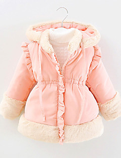 FanXingBeiYiGirl's Casual/Daily Solid Down & Cotton Padded,Cotton Winter Pink / Red