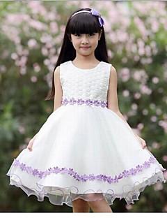 שמלה / גופיה וקאמי / אוברול וסרבל יום יומי\קז'ואל פרחוני כותנה קיץ / חורף לבן הילדה של