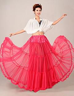 Slips A-Line Slip Floor-length 3 Tulle Netting / Polyester Wedding Petticoats Fuchsia