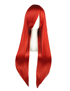 Cosplay Wigs Fairy Tail Elza Scarlet Red Long Anime Cosplay Wigs 80 CM Heat Resistant Fiber Male / Female
