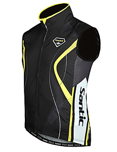 SANTIC Gilet de Cyclisme Sans Manches Homme Sans Manches Vélo Gilet/Sans Manche Veste Etanche Garder au chaud Pare-vent Polyester 100 %