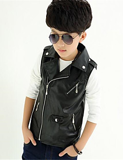 Boy's Casual/Daily Print Vest,Rayon Summer Black / Red
