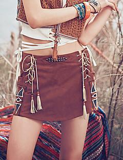 Aporia.As® Dames Medium taille Shorts Beige Vrijetijdsschoenen Broek-MZ23003