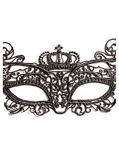 Black Sexy Lady Lace Mask Cutout Eye Masquerade Party Fancy Dress Costume