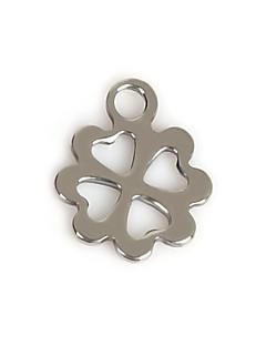 Charms Metal Leaf Shape som billede 50Pcs