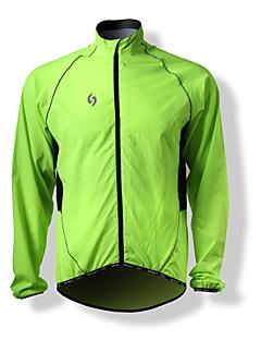 SPAKCT Veste de Cyclisme Homme Manches longues Vélo Pare-vent Antistatique Décorations Réfléchissantes Hauts/Tops 100 % Polyester