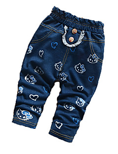 Baby Casual/Daily Print Pants,Cotton Fall Blue / Green / Pink