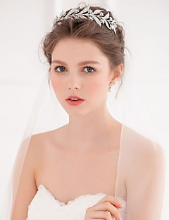 Women's Alloy Headpiece-Wedding / Casual Tiaras / Headbands / Hair Tool 1 Piece Silver Round free size