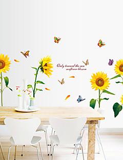 Blumen Wand-Sticker Flugzeug-Wand Sticker Dekorative Wand Sticker,PVC Stoff Abziehbar Haus Dekoration Wandtattoo