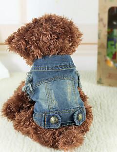 honden Denim jacks Blauw Hondenkleding Winter Lente/Herfst Jeans Cowboy Modieus