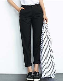 Women's Solid Black / Gray Chinos / Business / Harem Pants,Simple