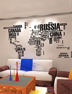 Worte & Zitate Wand-Sticker Flugzeug-Wand Sticker Dekorative Wand Sticker,PVC Stoff Repositionierbar Haus Dekoration Wandtattoo