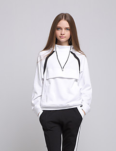 ARNE® Women's Stand Long Sleeve Hoodie & Sweatshirt White-A031