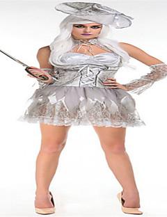 Disfraces Zombi Halloween Blanco Un Color Terileno Falda / Mangas / Sombrero