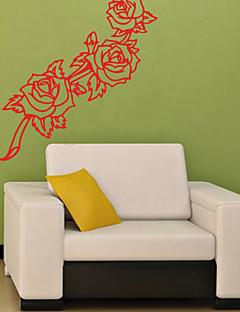 Botanisch Wand-Sticker Flugzeug-Wand Sticker Dekorative Wand Sticker,PVC Stoff Repositionierbar Haus Dekoration Wandtattoo