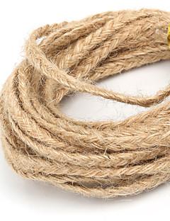 beadia ca 5x2mm flettet naturlig hamp jute snor for DIY smykker håndværk making (5mts)