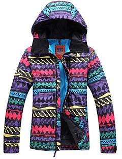 GQY® Ski Wear Ski/Snowboard Jackets Women's Winter Wear Polyester Geometic Winter ClothingWaterproof / Thermal / Warm / Windproof /