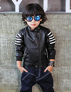 Boy's Casual/Daily Print Suit & Blazer / Jacket & Coat,PU Spring / Fall Black