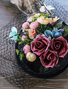 成人用 レース / ファブリック かぶと-結婚式 / パーティー ヘッドドレス 1個