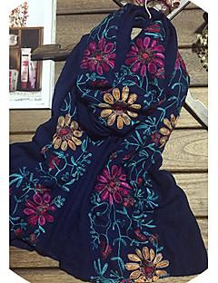 Naiset Vintage / Vapaa-aika Puuvilla Huivi,Painettu Neliskulmainen