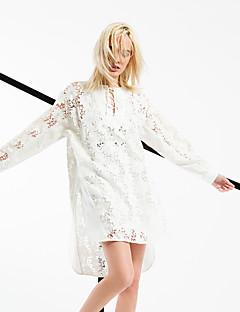 ARNE® Kadın Yuvarlak Yaka Uzun Kol Diz Üstü Elbiseler-6242