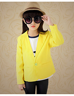 Girl's Casual/Daily Solid Suit & Blazer,Cotton / Rayon Spring / Fall Red / Yellow