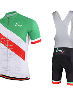 Miloto Cycling Jersey with Bib Shorts Men's Short Sleeve Bike Breathable Quick Dry Moisture Permeability YKK Zipper Sweat-wickingBib