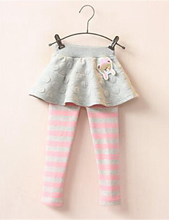 Girl's Casual/Daily Striped Leggings,Cotton Spring / Fall Blue / Pink / Gray
