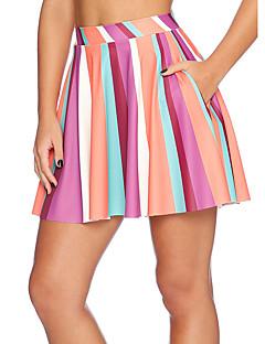 Sexig / Aktiv Mini Kjolar Kvinnors Elastisk Polyester / Elastan