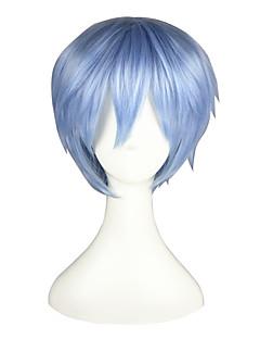 פאות קוספליי Kuroko אין סל Tetsuya Kuroko כחול קצרה אנימה פאות קוספליי 32 CM סיבים עמידים לחום זכר / נקבה