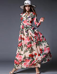 maxlindy Frauen Ausgehen / Party / Cocktail / Urlaub Jahrgang / Straße chic / anspruchsvolle floralen Swing Kleid