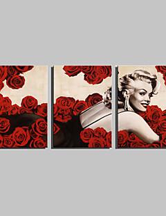 Ritratti Print Canvas Tre Pannelli Pronto da appendere , Orizzontale