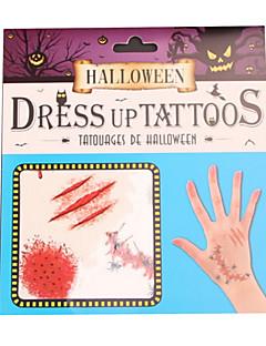 Haloween Figuren Zombie Fest/Feiertage Halloween Kostüme Rot Druck Mehre Accessoires Halloween Unisex