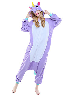 Kigurumi Pajamas Unicorn Leotard/Onesie Festival/Holiday Animal Sleepwear Halloween Purple Pink Sky Blue Animal Print Polar Fleece